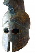 foto of spartan  - An old replica of a Spartan helmet - JPG