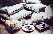 image of latte coffee  - Pillows - JPG
