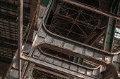 foto of framing a building  - Building frame inside industrial architecture closeup photo - JPG