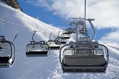 picture of sochi  - Chairlift in a ski resort Krasnaya Polyana - JPG