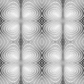 pic of twist  - Design seamless monochrome ellipse background - JPG
