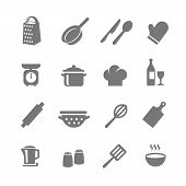 pic of knife  - Set of kitchen and cooking icons - JPG