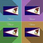 stock photo of samoa  - Flags of American Samoa - JPG