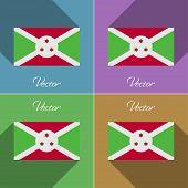 picture of burundi  - Flags of Burundi - JPG