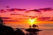 stock photo of nightfall  - Nightfall Coast Evening  - JPG