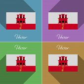 picture of gibraltar  - Flags of Gibraltar - JPG