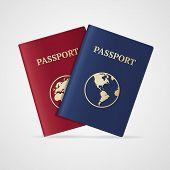 picture of passport template  - Vector illustration international passport set isolated on White Background - JPG