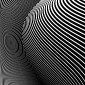 picture of distort  - Design monochrome lines movement illusion background - JPG