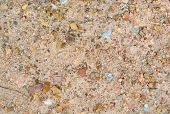 pic of sand gravel  - Gravel on ground with small rocks and sand - JPG