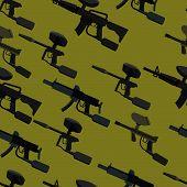 pic of paintball  - paintball guns seamless pattern - JPG
