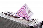 Metallic Case Full Of Euro