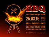 stock photo of barbecue grill  - Barbecue grill party - JPG
