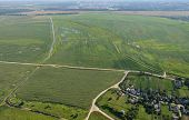 stock photo of crossroads  - Crossroads and Fields natural, agriculture landscape belarus