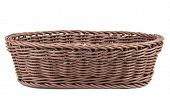 picture of braids  - Braiding small wicker basket on white background - JPG