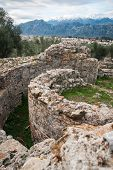 pic of sparta  - Ancient Greek ruins at the archaeological place at Sparta Greece - JPG