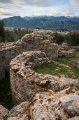 foto of sparta  - Ancient Greek ruins at the archaeological place at Sparta Greece - JPG