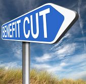 stock photo of reduce  - Benefit cuts tax cut on housing child and social works reduce spending  - JPG