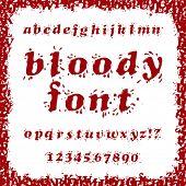 pic of bloody  - Bloody Splash Font Set - JPG