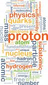 picture of proton  - Background concept wordcloud illustration of proton - JPG