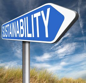 foto of sustainable development  - sustainability road sign arrow - JPG
