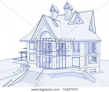3d blueprint house vector technical draw picture royalty free stock photo image 3d house drawing