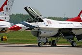 The Thunder-Bird Is Ready To Take-Off At An Air Show