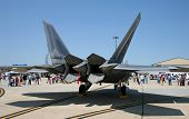 The Fighter F-22 Displayed At An Air Show