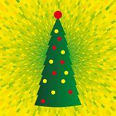 Árbol de Navidad de vector abstracto