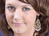 pic of nose ring  - smiling girl with ear - JPG