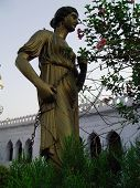 stock photo of muharram  - A roman style metal statue at the gate of historic chota imambada of lucknow - JPG
