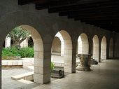 Arches And Column Of The Church Of Fishes And Loaves