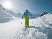 Racket trekking in snow