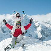 Ski, snow, sun and fun