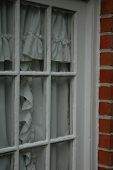 Window Frame With Curtains