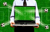 conceptual image for soccer or football online