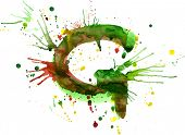 stock photo of g-spot  - watercolor paint  - JPG