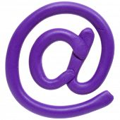 Colour plasticine symbol isolated on a white background - lilac email