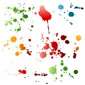 vector grunge design elements - watercolor paint