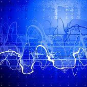 digital wave & blue technology background