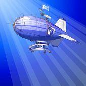 Balão dirigível de vetor & céu azul
