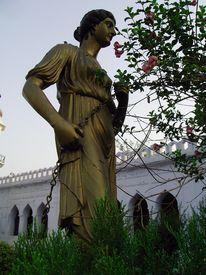 image of muharram  - A roman style metal statue at the gate of historic chota imambada of lucknow - JPG