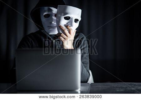 Mystery Male Hoodie Hacker Wearing