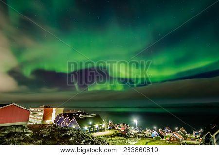Green Bright Northern Lights Hidden