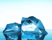 abstract artistic blue ice background