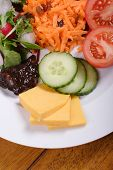 stock photo of grated radish  - ploughmans lunch - JPG