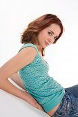 Confident Redhead Young Lady