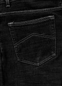 Textural Background Pocket Jeans