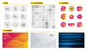 Seamless Pattern. Shopping Mall Banners. Set Of File, Quick Tips And Location Icons. Creative Idea,  poster