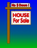 4 Sale No Down Payment Sign