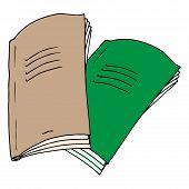 Notebook. Vector Illustration Notebook. Hand Drawn Notebook. poster